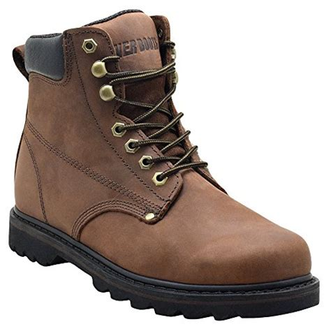 mens construction work boots boots quot tank quot s soft toe grain leather