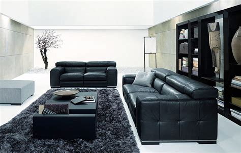 Amazing New Nicolas Living Room Design With Black Sofa Black Living Room Chair