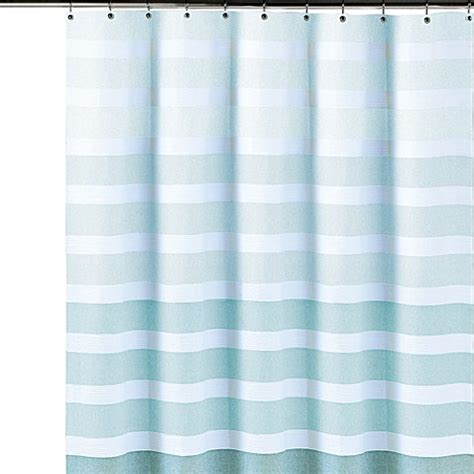 dkny shower curtain buy dkny highline stripe cotton shower curtain from bed