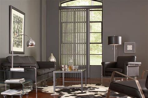 living room l shades gray vertical blinds lafayette interior fashions modern
