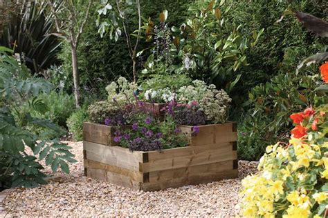 tiered raised garden bed forest garden caledonian tiered raised bed planter