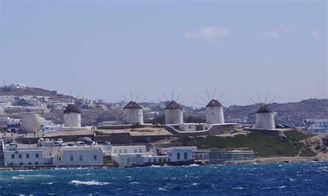 mykonos port port mykonos greece