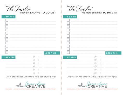 Neverending To Do List Printable | free neverending to do list printable planner addict