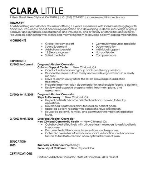 Resume Sle Mental Health Counselor Counselor Resume Sles