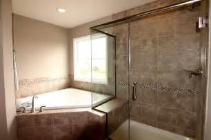 Garden Tub And Shower Master Bathroom With Frameless Shower And Garden Tub