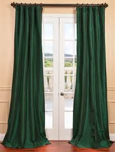 Emerald Green Curtains Emerald Green Faux Silk Taffeta Curtain Contemporary Curtains San Francisco By Half