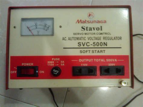 Dijamin Stabilizer Matsumoto 500n jual bekas stabilizer stavol matsunaga 500va aleng88 di omjoni