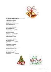 villancicos de navidad trabajos hojas de trabajo de ele
