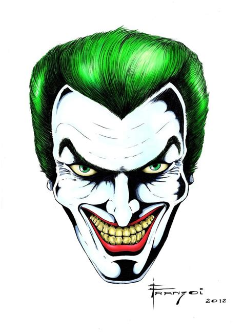 The Joker Final Art By Franzoi On Deviantart Drawings Of Joker Faces 2