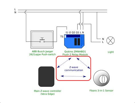 electrical diagram light and fibaro 3 in 1 sensor