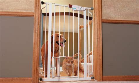 pet swing gates walk thru pet gate groupon goods