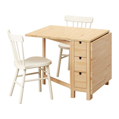 Norden Dining Table Norden Norraryd Table And 2 Chairs Birch White 89 Cm Ikea