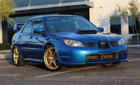 subaru wrx custom blue purchase used 2006 subaru wrx sti clean with custom