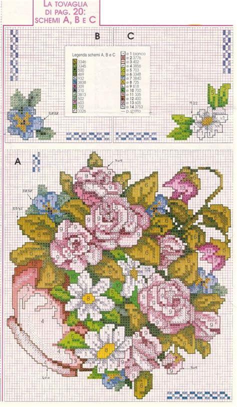 schemi di fiori a punto croce vaso di fiori misti1 magiedifilo it punto croce