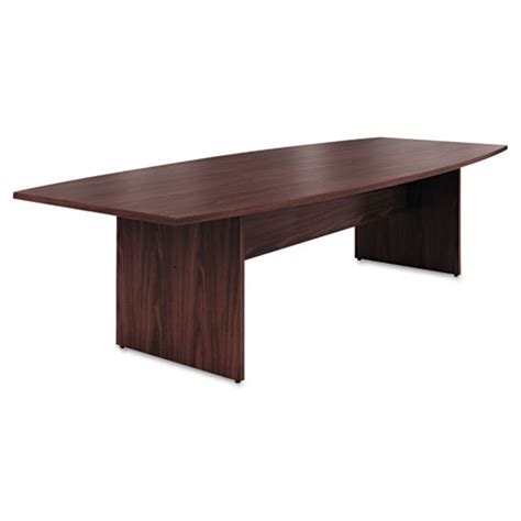 Hon Conference Table Hon 174 Preside Boat Shaped Conference Table Top 120w X 48d Mahogany Hont12048pnn