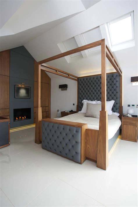 chambre a coucher moderne mauve et blanc