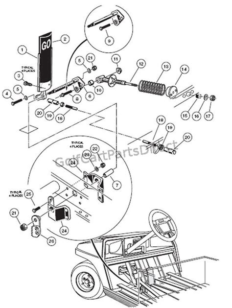 2000 2005 Club Car Ds Gas Or Electric Club Car Parts