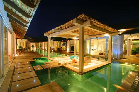Prefab Outdoor Kitchen Island beachfront tropical villa in koh samui idesignarch
