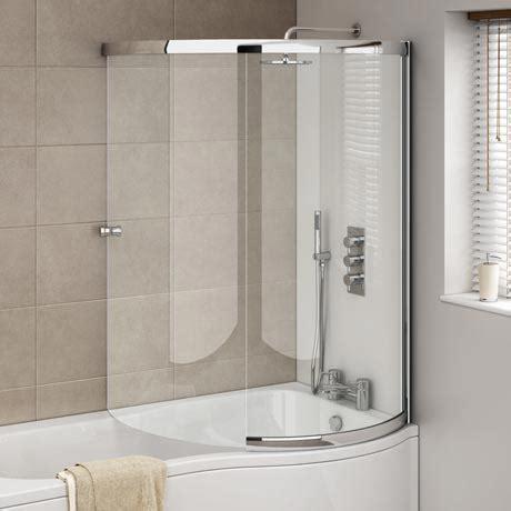 P Bath Shower Screen cruze p shaped sliding bath screen available at