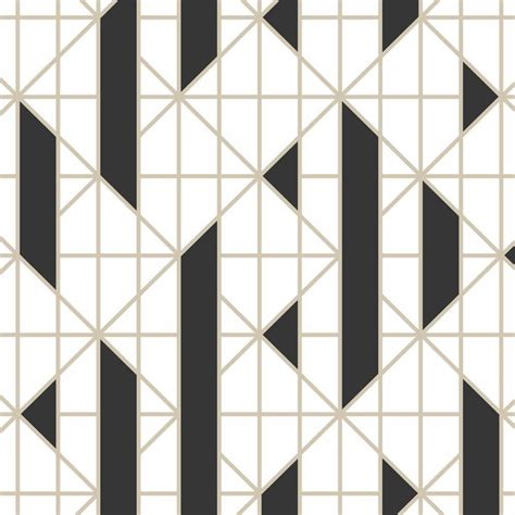 black  white linear removable wallpaper simple stylish