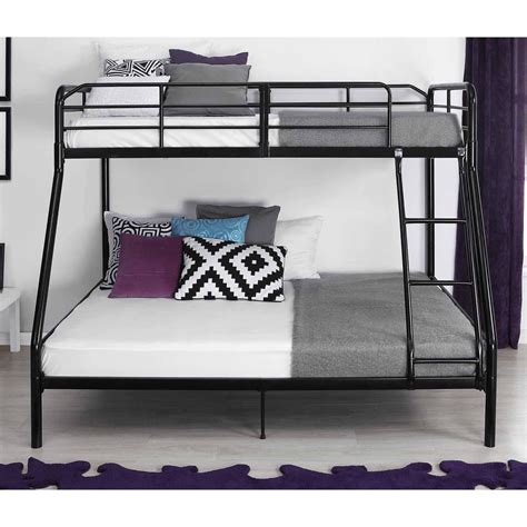 twin  full metal bunk bed  ladder kids bedroom furniture dorm loft ebay