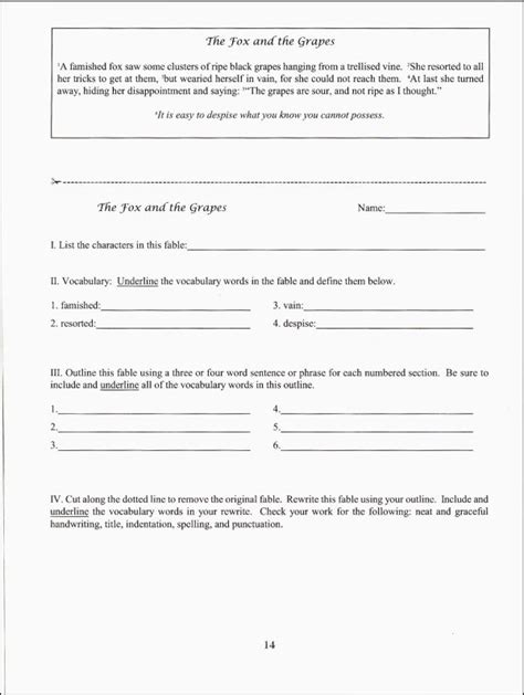 Fables Comprehension Worksheets by All Worksheets 187 Fable Worksheets Printable Worksheets