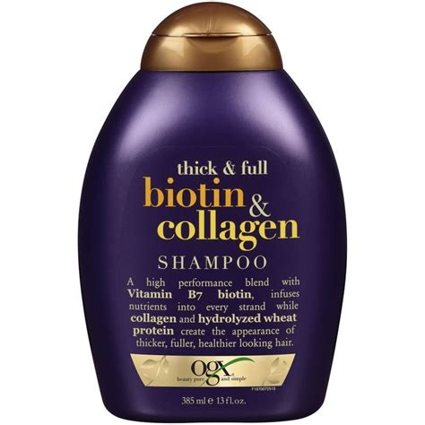 organix ogx thick full biotin collagen shoo conditioner 7 best images about biotina y col 225 geno on pinterest