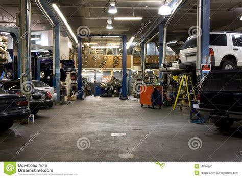 car fixing garage stock photo image of lighting