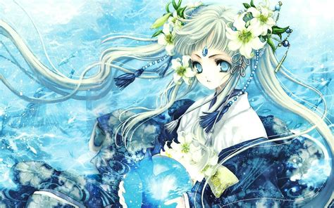wallpaper blue girl blue anime girl wallpaper high definition high quality