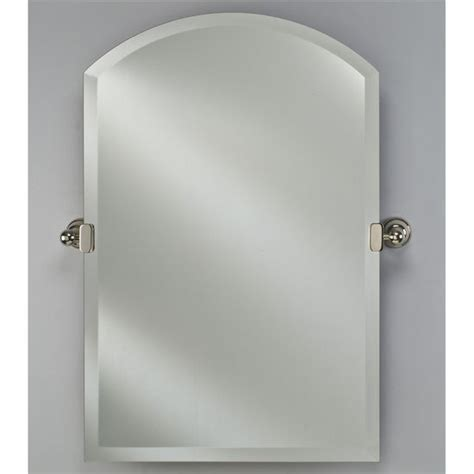 tilt bathroom mirror radiance collection 16 w to 24 quot w arch top frameless 1