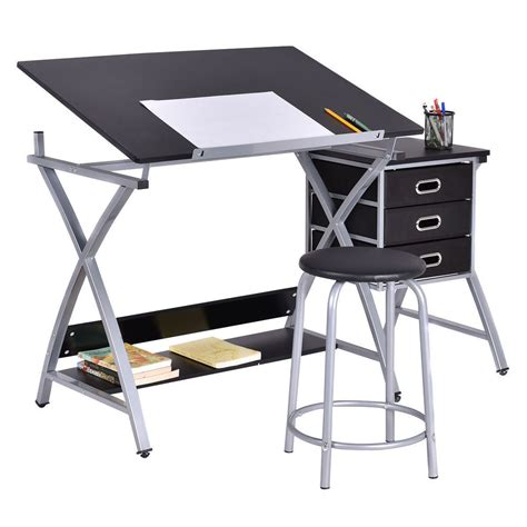 drafting table computer workstation drafting table craft drawing desk hobby folding