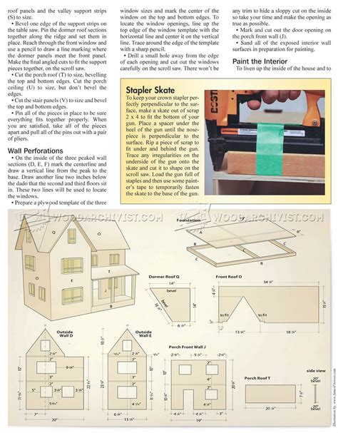 dolls house plan dollhouse plans free woodworking image mag