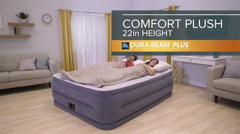 intex comfort plush intex 22 quot dura beam plus comfort plush airbed youtube