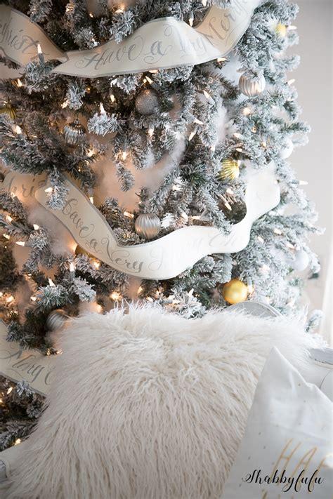 the most elegant glamorous white christmas living room