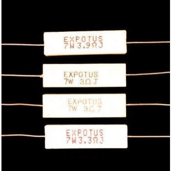 ceramic wire wound resistors ceramic wire wound resistors for loudspeaker crossovers and networks 7 watt from falcon