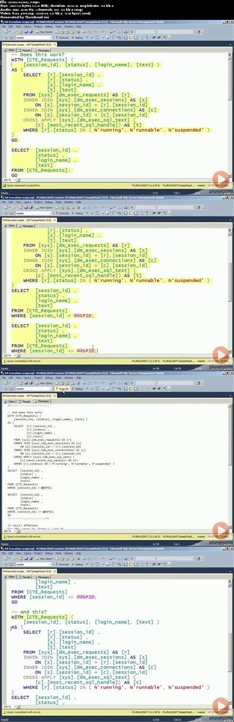 sql common table expression pluralsight sql server transact sql common table