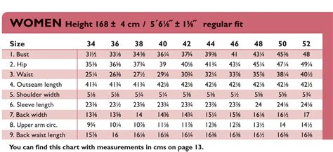 pattern grading calculator the ottobre design 174 blog women s size chart in inches