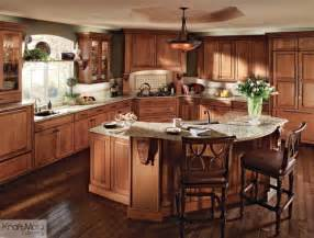 Kitchenmaid Kitchen Cabinets Kraftmaid Cherry Cabinetry In Burnished Traditional Kitchen By Kraftmaid