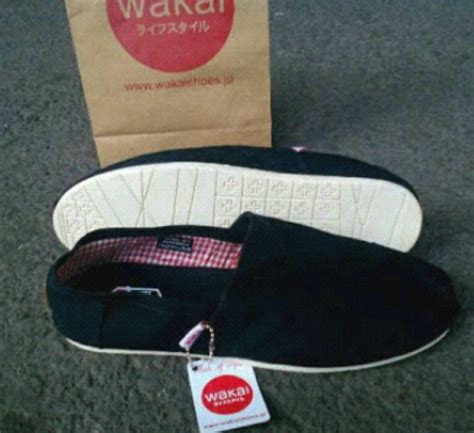 Slip On Wakai by Jual Sepatu Wakai Slip On Black Rg