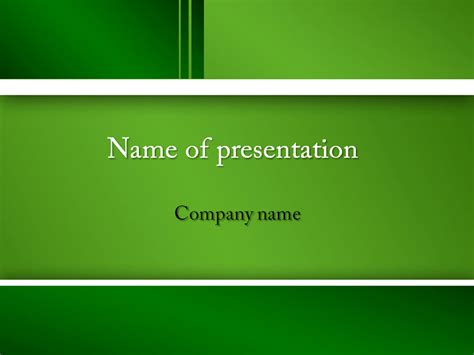 Download Free Green Feel Powerpoint Template For Presentation Presentation Template Powerpoint