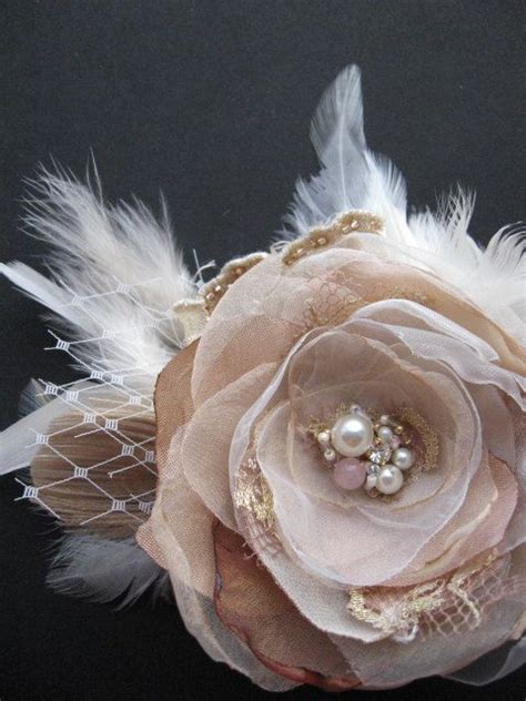 Vintage Bridal Hair Fascinators by Reserved Vintage Rustic Wedding Hairpiece Bridal