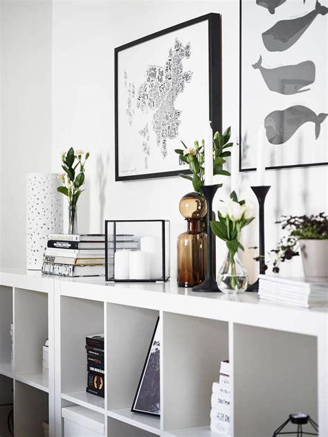 kallax wohnzimmer two ikea kallax expedit bookshelves as sideboard
