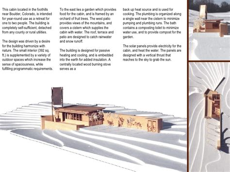 Cabin Designs by Portfolio Architectural Student Works
