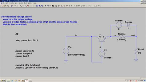 ideal diode spice model simple current limiter for ltspice physics forums the fusion of science and community