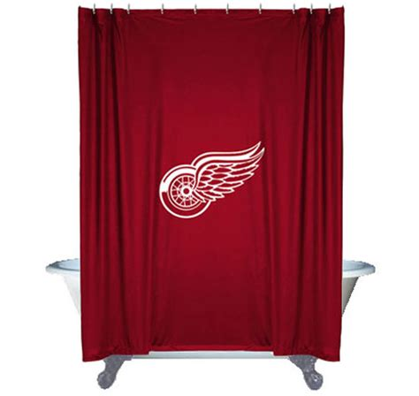 hockey shower curtain nhl detroit red wings shower curtain hockey bathroom
