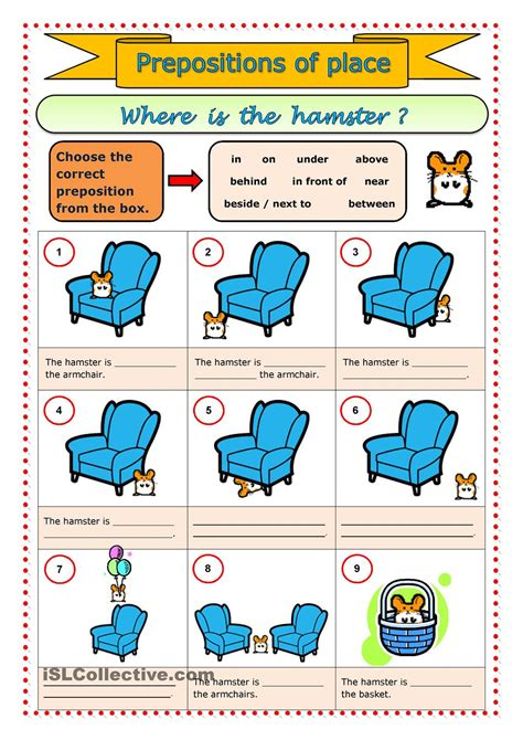 esl printable worksheets prepositions of place prepositions of place esl worksheets of the day