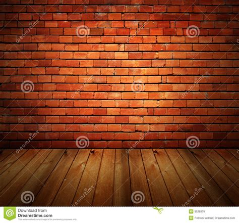 brick house interior house interior grunge brick wall and wood floor royalty free stock images image 9528979
