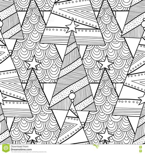 christmas pattern to colour black and white pattern with christmas trees for coloring