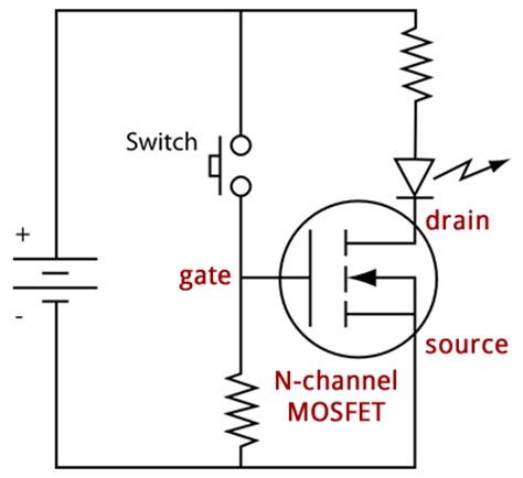 n channel mosfet gate resistor sound deactivated led strips