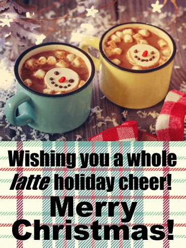 latte holiday funny christmas card birthday greeting cards  davia